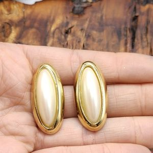 Vintage designer RICHIE LIU slim pearl 90s gold